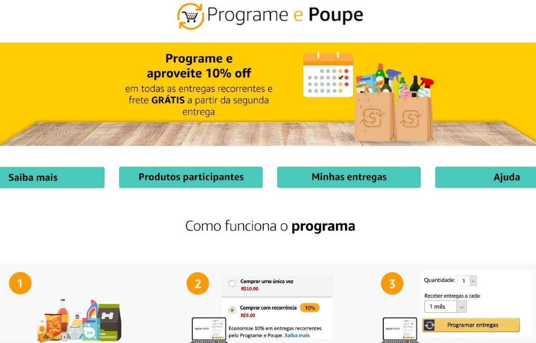 Amazon Lança Serviço Programe e Poupe
