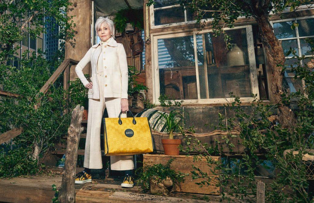 Jane Fonda Estrela Campanha Gucci Off The Grid