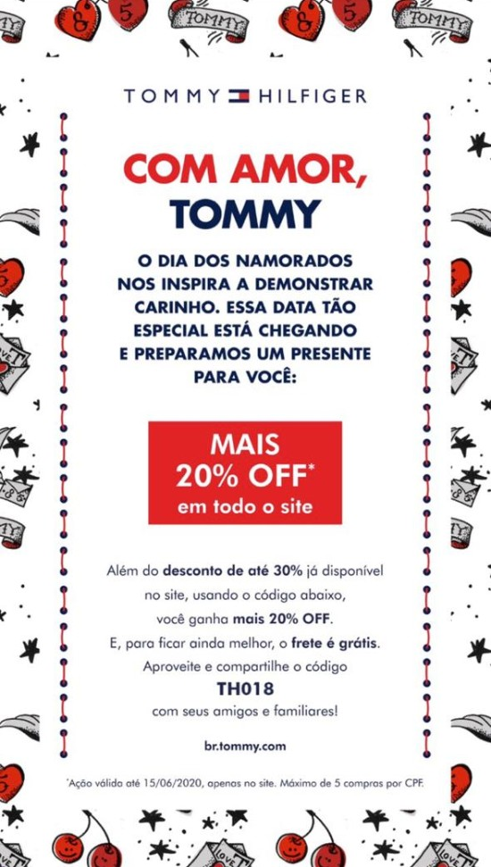 Cupom de Desconto Especial Tommy Hilfiger